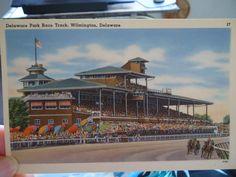 #16 OLD POST CARD DELAWARE PARK RACE TRACK