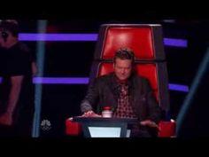 the voice - Funny moment - Blake's broken chair Sooooo Funny!!