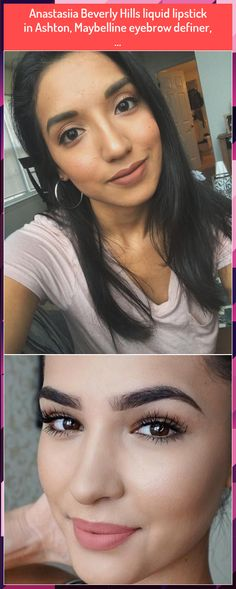 Anastasiia Beverly Hills liquid lipstick in Ashton, Maybelline eyebrow definer, . Maybelline Eyebrow, Highlighter Makeup, Liquid Lipstick, Beverly Hills, Eyebrows, Make Up, Illuminator Makeup, Brows, Makeup