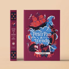 Peter Pan & Wendy on Behance Book Cover Art, Book Cover Design, Book Art, Book Covers, Comic Covers, Peter Pan Buch, Storyboard, Editorial Design Magazine, Jm Barrie