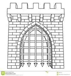 Isolated Medieval Gate Vector Drawing Or Coloring - Download From Over 29 Million High Quality Stock Photos, Images, Vectors. Sign up for FREE today. Image: 29891616