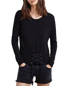 VELVET BY GRAHAM & SPENCER VELVET BY GRAHAM & SPENCER AUDRINA CORSET DETAIL TEE. #velvetbygrahamspencer #cloth #