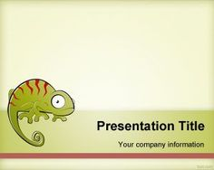 Free Chameleon PowerPoint Template background for presentations #chameleon #templates #presentations