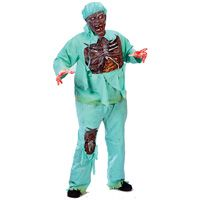 Zombie Doctor Adult Costume: These walking undead creatures are exactly what a horrific Halloween is all about!