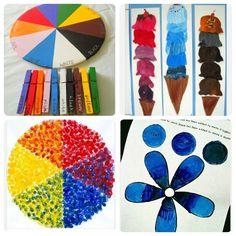 При помощи этих игр и идей вы сможете познакомить детей с цветовым кругом…
