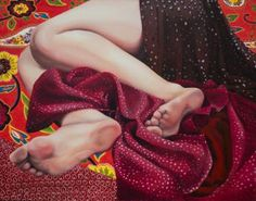 "Saatchi Art Artist Aleksandra Kalisz; Painting, ""No title 4 (Red)  [ON EXHIBITION]"" #art"