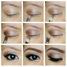 Makeup marron rose