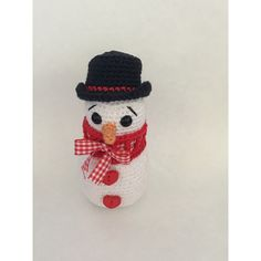 Crochet Snowman Mini Snowman/ Christmas Snowman Amigurumi snowman... ($11) ❤ liked on Polyvore featuring home, home decor and holiday decorations