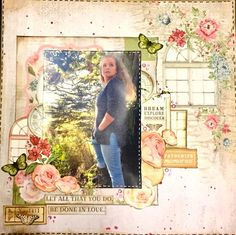 A Layout by Kelly-ann Oosterbeek made using the Rose Avenue Collection from Kaisercraft. www.kellyanno.com Scrapbooking Layouts, Scrapbook Pages, K Rose, Ann, Paper Crafts, Faith, Couple, My Favorite Things, Girls