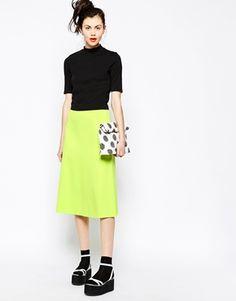 Monki A-Line Midi Skirt