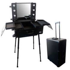 Valise maquillage trolley professionnel croco noir parisax - Mallette de maquillage pas cher ...