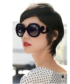 Swirl Sunglasses- Shop Here http://shop.dropdeadgorgeousdaily.com/shop/accessories/curly-arm-sunglasses/