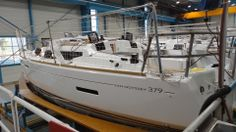 Hull has deck added. Bay Of Biscay, First Class, Boat Building, Southampton, Sailboat, Boats, Sailing, Deck, Sailing Boat