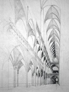 Gothic Interior by MedievalPete