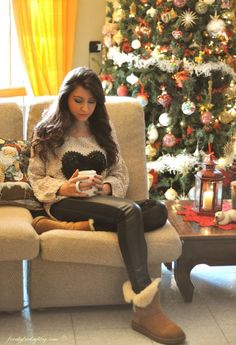 Nice Winter Outfits With Leggings Both comfy and stylish! Perfect Christmas with the family outfit.... Check more at http://24shopping.ga/fashion/winter-outfits-with-leggings-both-comfy-and-stylish-perfect-christmas-with-the-family-outfit/