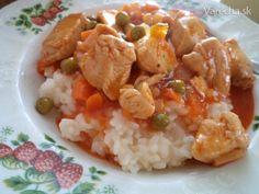 Kuracie prsia na sladkokyslo Wok, Risotto, Chicken Recipes, Grains, Food And Drink, Ethnic Recipes, Ground Chicken Recipes, Woks, Recipes With Chicken