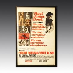 This would make a great gift for a Bond fan! 'From Russia with Love' Original Film Poster