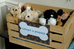 Puppy Adoption Center instead of Favors!