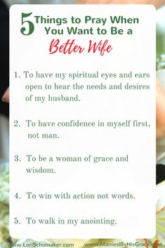 Things to Pray When You Want to Be a Better Wife Prayer is our best tool in the quest to be better wives for our husbands. Here you will find 5 things to Pray When You Want to Be a Better Wife Marriage Prayer, Godly Marriage, Marriage Relationship, Happy Marriage, Marriage Advice, Love And Marriage, Wife Prayer, Marriage Promises, Marriage Scripture