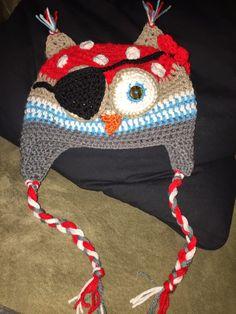 Pirate owl hat ~ free pattern ᛡ