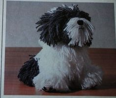 Rare Dylan the Dog knitting pattern designed by Alan Dart