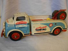 Vintage Metal Wyandotte Tow Truck by AlwaysSomething4You on Etsy, $180.00