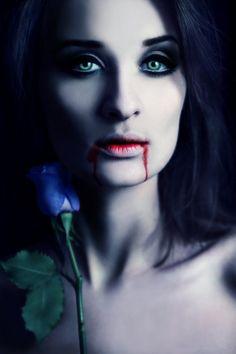 Vampire kiss by DarkVenusPersephonae.deviantart.com on @deviantART