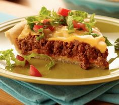 Taco Pie is one of our favourites and it will soon be yours. This recipe is easy and will be piping hot on your table in less than an hour! This is the ultimate comfort food and this will be a regular on your menu! Taco Pie Recipes, Bisquick Recipes, Copycat Recipes, Mexican Food Recipes, Dinner Recipes, Cooking Recipes, Casserole Recipes, Dinner Ideas, Breakfast Recipes