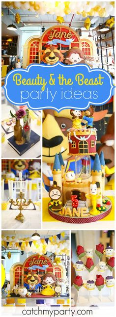 Wow! You have to see this incredible Beauty and the Beast party! See more party ideas at CatchMyParty.com!
