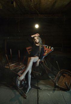 """Butterfly effect  In the darkness""  md:Eva; ph, decorations: Ksenia Alizabal"