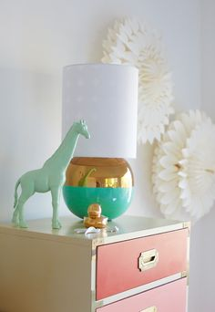 Although it's designed for a kid's room, I'd happily put this in a grown up room too! Oh Joy! My New Room, My Room, Glow Table, Painting Plastic, Kids Decor, Home Decor, Little Girl Rooms, Nursery Inspiration, Kid Spaces