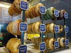bagel display - Google Search                                                                                                                                                                                 More