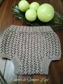 Labores de siempre: Cubre pañal en Punto Calado Baby Knitting, Crochet Baby, Crochet Top, Baby Born, Crochet Clothes, Lace Shorts, Crafts, Fashion, Kuchen