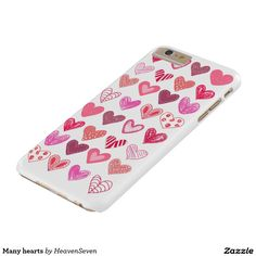 Many hearts barely there iPhone 6 plus case