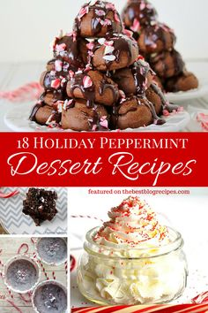 18 Holiday Themed Peppermint Dessert Recipes Round Up