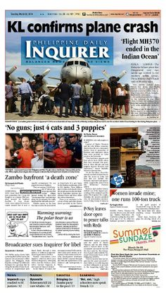 15 Best Philippine Daily Inquirer images in 2014