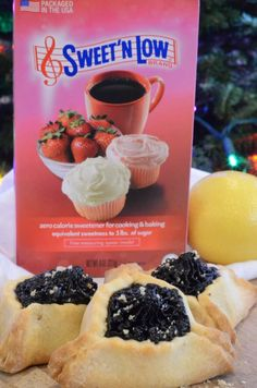 Hamantaschen - Sparkles to Sprinkles Perfect Triangles, Women Lawyer, Fruit Jam, Cookie Exchange, Low Sugar, Sweet Desserts, Holiday Cookies, Sweet Treats, Snacks