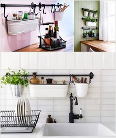 KITCHEN: More modular wall storage units, this one the FINTORP series from IKEA. I love the tubs in this series. Small Galley Kitchens, Cool Kitchens, Kitchen Small, Fintorp Ikea, Kitchen Furniture, Kitchen Decor, Furniture Storage, Homemade Kitchen Tables, Kitchen Wall Storage