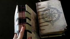 Vintage book with hand stich binding