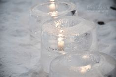 Ice lanterns Winter Photos, Small Birds, Lanterns, Candle Holders, Ice, Snow, Candles, Winter Pictures, Little Birds