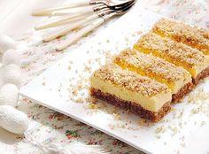 Sastojci   kora   5 belanaca  150 g. šećera  150 g. mlevenih oraha  3 kašike prezli   fil   5 žumanaca  150 g. šećera  sok i ribana kori...