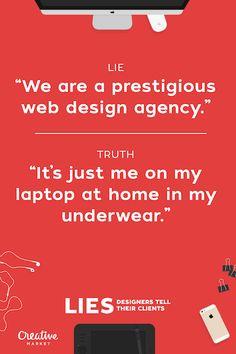 20 bugie che i designer dicono ai propri clienti