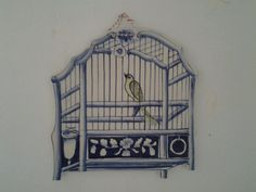 Birdcage shaped tile in delft blue...Dutch by cheztoietmoi on Etsy, €120.00