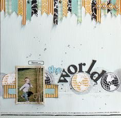 #papercrafting #scrapbook #layout Lilith's scrapbooking venture: My Scrapbook Nook Blog Hop