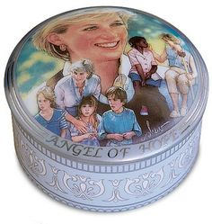 Angel of Hope (Princess Diana) Music Box. It is made by Franklin Mint and is approximately 8 cm (3.1 in) wide  http://franklin-mint.minimodelfilmstuff.co.uk/franklin-mint-collectable/princess-diana-angel-of-hope-music-box-franklin-mint-b11e695 Princess Diana was never more beautiful than at those times—those many times—when she offered her hand to the less fortunate, especially the children. Now, you can celebrate Diana's true legacy by making this lovely music box your own. Fe...