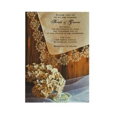 I love these rustic and yet romantic invitations