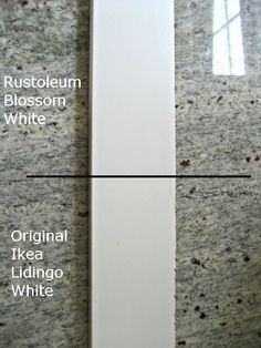 A spray paint version of IKEA white? rustoleum blossom white paint with ikea lidingo cabinets