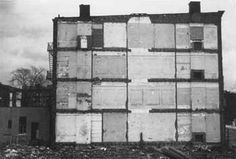Gordon Matta Clark    His best-known works of the '70s, including abandoned warehouses and empty suburban houses that he carved up with a power saw, offered potent commentary on both the decay of the American city and the growing sense that the American dream was evaporating. The fleeting and temporal nature of that work — many projects were demolished weeks after completion — only added to his cult status after an early death in 1978, from cancer, at 35.