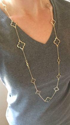 Trisha clover charm layering necklace. Pretty!