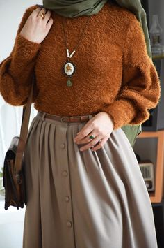 Modest Outfits, Classy Outfits, Girl Outfits, Fashion Outfits, Fall Fashion, Modern Hijab Fashion, Muslim Fashion, Modest Fashion, Hijab Style Dress